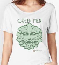 Green Men face for light backgrounds Women's Relaxed Fit T-Shirt