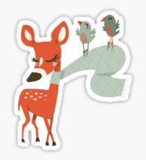 Biche des neiges Sticker