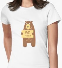 Cute bear with a sign for text T-Shirt