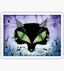 Black Cat Bastet Sticker