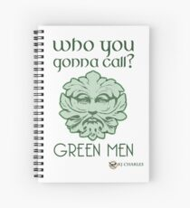 Who You Gonna Call light backgrounds Spiral Notebook