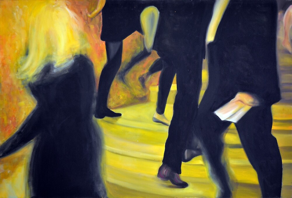 Always on the run, 2013, 120-80cm, oil on canvas by oanaunciuleanu