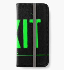 Exit in Green iPhone Wallet/Case/Skin