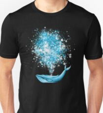 Whale Watercolor Splatter Celebration Unisex T-Shirt