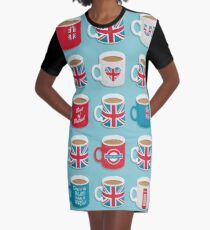 A Very British Brew Graphic T-Shirt Dress