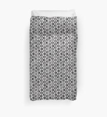 Black and White Small Scale Hexagonal Pattern Duvet Cover