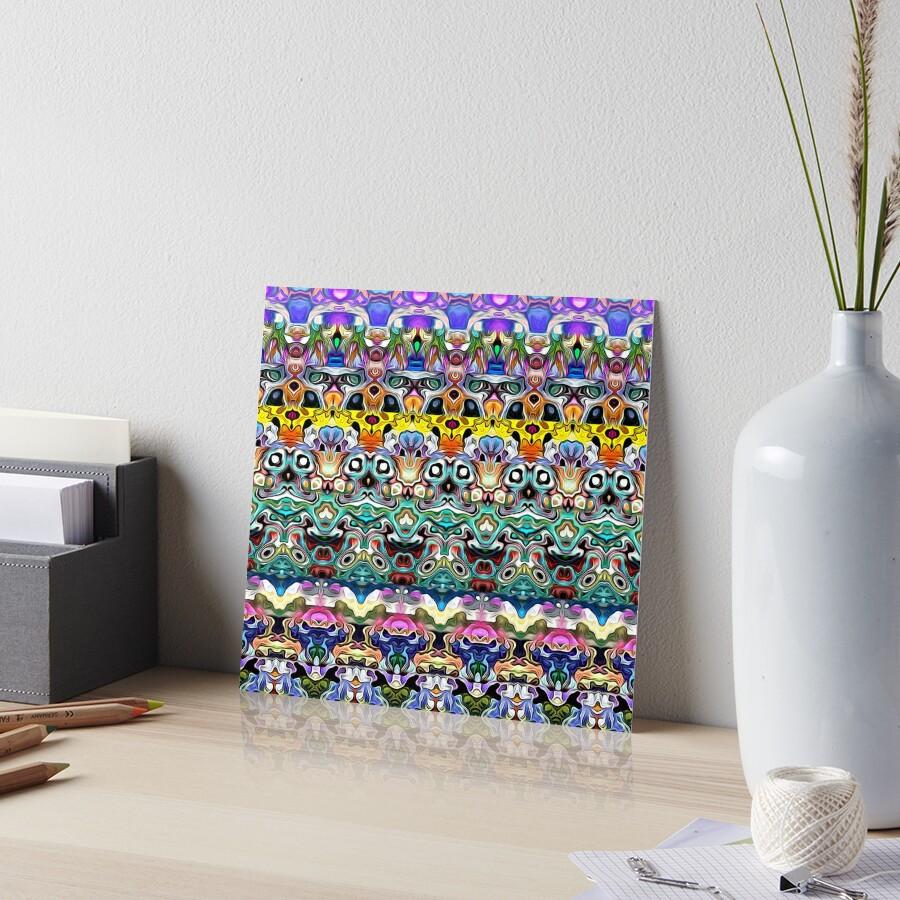 Colorful Shapes Metamorphosis Art Board Print