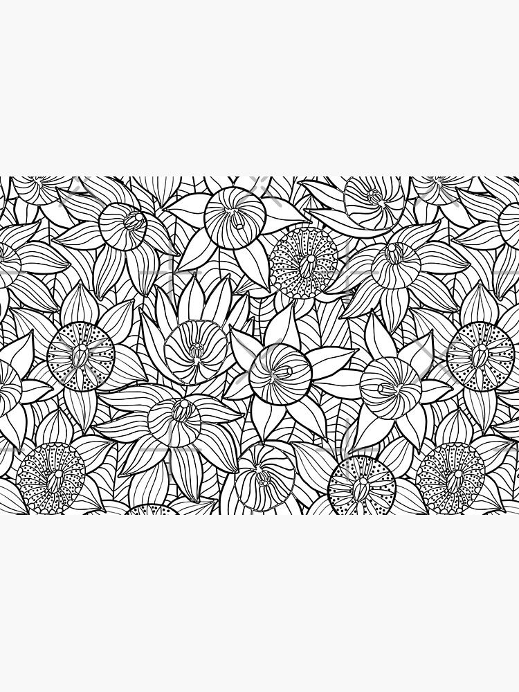 Linear Floral Pattern  by SerenaBellini