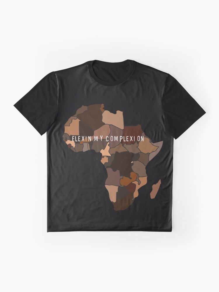 Alternate view of Flexin My Complexion Graphic T-Shirt