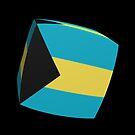 Bahamas Flag cubed. by stuwdamdorp