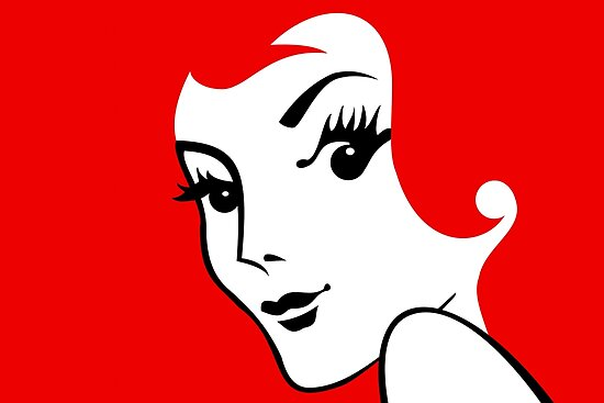 Miss Redhead [iPad / Phone cases / Prints / Clothing / Decor] by Damienne Bingham
