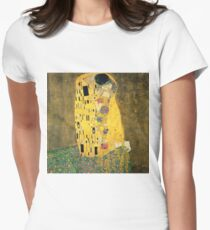 The Kiss - Gustav Klimt Women's Fitted T-Shirt