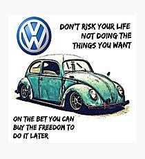 VW Beetle Freedom Photographic Print