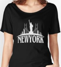 New York City T-Shirt Statue of Liberty Women's Relaxed Fit T-Shirt