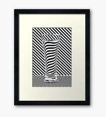 Striped Water Framed Print