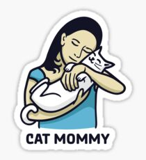 Pegatina Cat Mommy