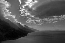 Dark clouds  on the Dalmation coast by Arie Koene