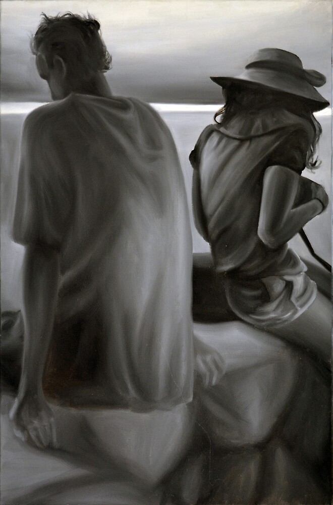 Separated, 2012, 80-53cm, oil on canvas by oanaunciuleanu