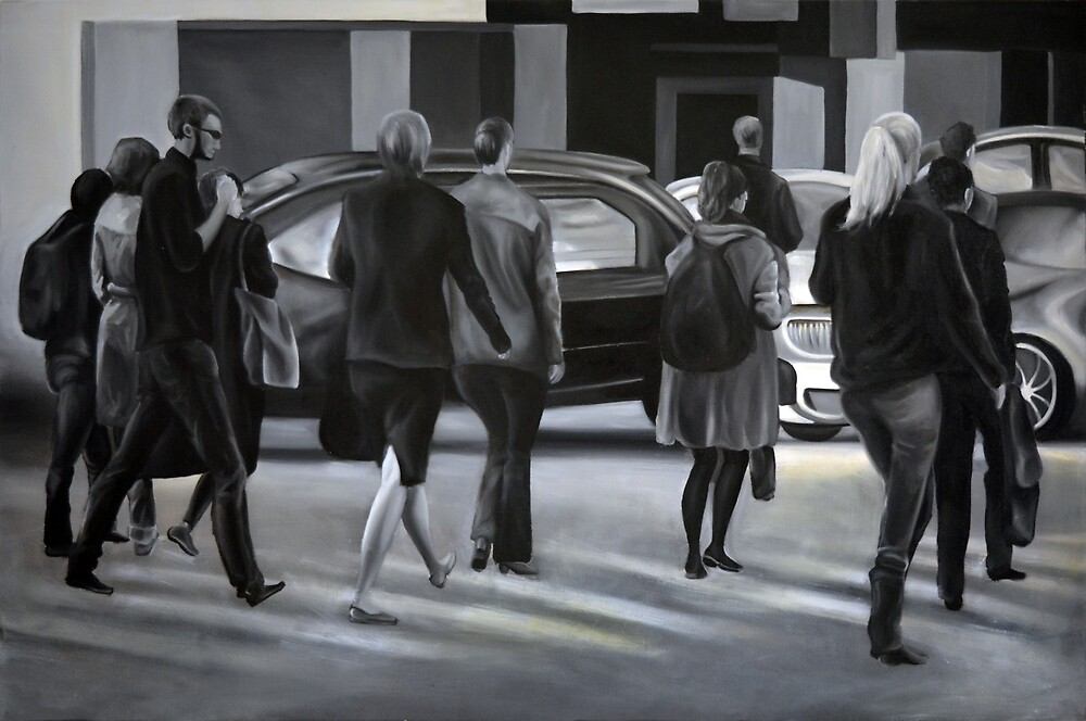 Rush time, 2012, 120-80cm, oil on canvas by oanaunciuleanu