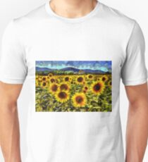 Sunflower Field Van Gogh Unisex T-Shirt