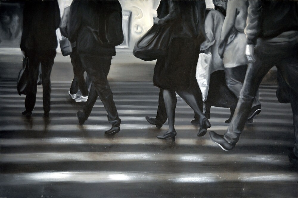Passing by, 2012, 120-80cm, oil on canvas by oanaunciuleanu