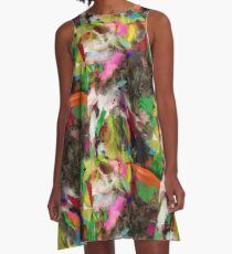 Fancy Feathers  A-Line Dress
