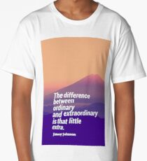 Inspirational Timeless Quotes - Jimmy Johnson Long T-Shirt