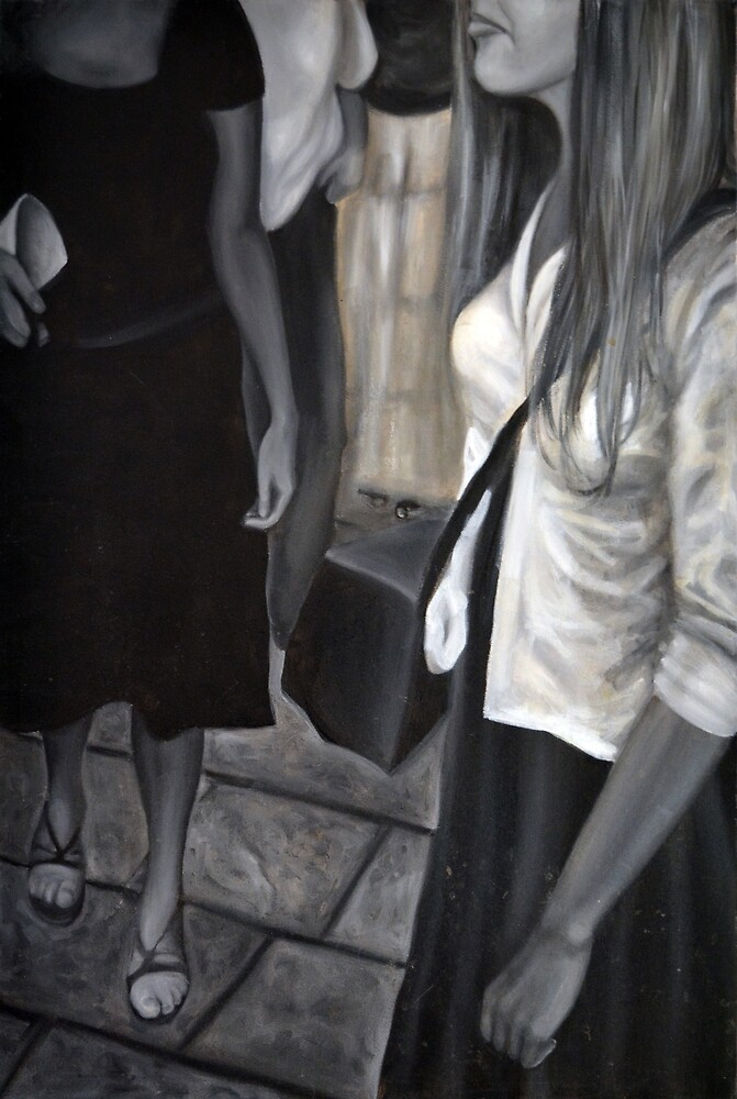 Marketplace, 2012, 53-80cm, oil on canvas by oanaunciuleanu