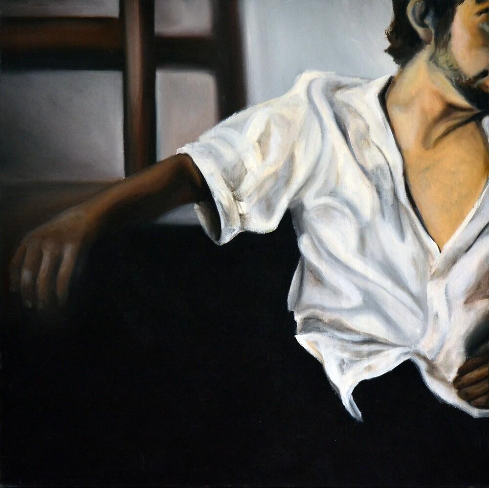 Him, 2012, 50-50cm, oil on canvas by oanaunciuleanu