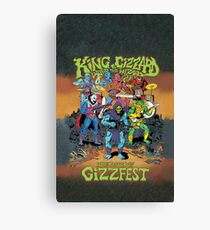 King Gizzard and the Lizard Wizard Gizzfest Canvas Print