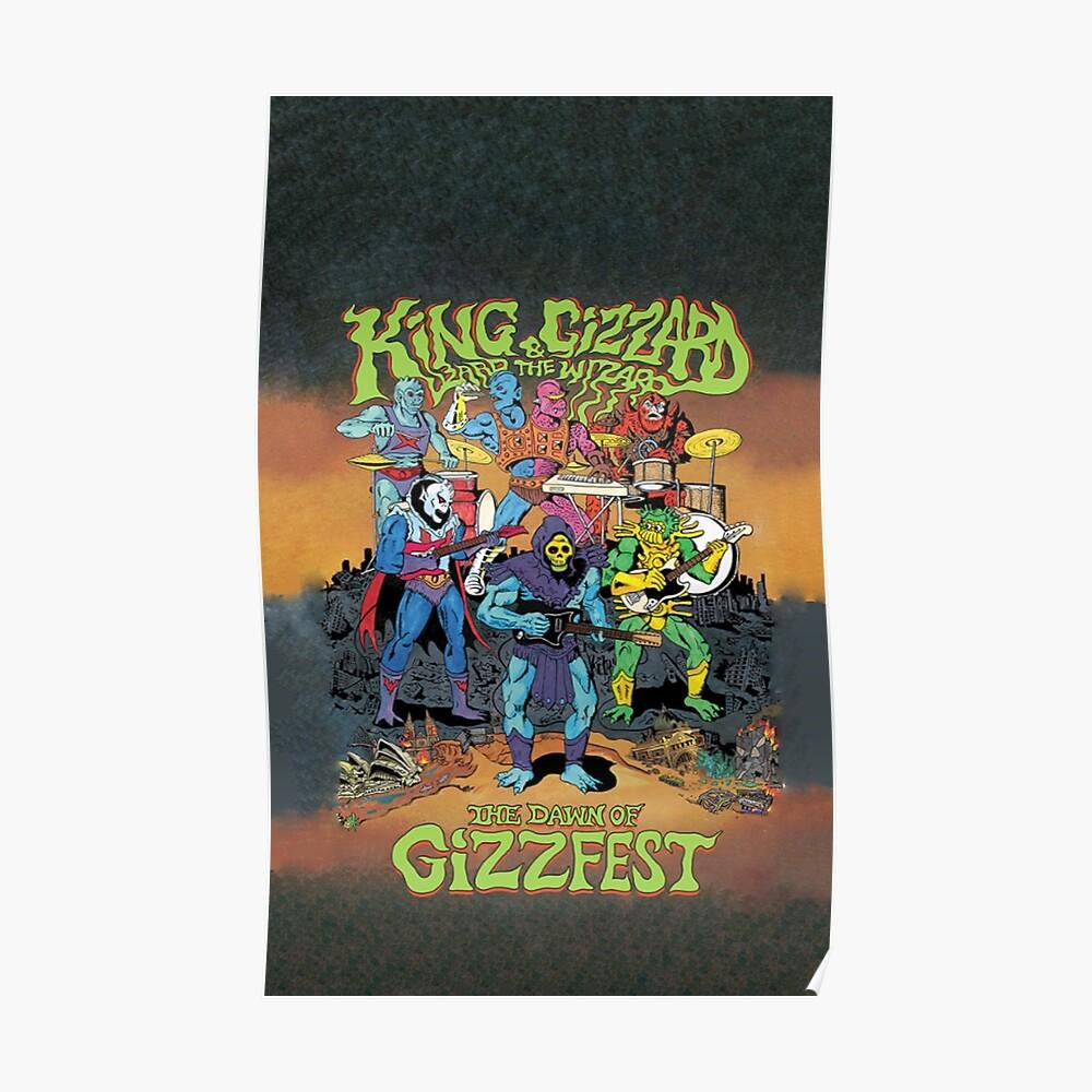 König Gizzard und der Eidechse Zauberer Gizzfest Poster