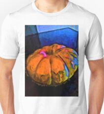 Beautiful Orange Pumpkin with some Blue and Pink Unisex T-Shirt