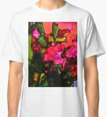 Beautiful Pink Flower with some Green Classic T-Shirt