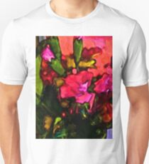 Beautiful Pink Flower with some Green Unisex T-Shirt