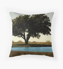 Tree by Pond Throw Pillow