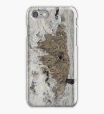 Flock of Sheep with Shepherd in the Snow 1887 - 1888 Anton Mauve iPhone Case/Skin
