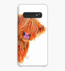 HIGHLAND COW 'PEEKABOO' BY SHIRLEY MACARTHUR Case/Skin for Samsung Galaxy