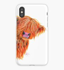 HIGHLAND COW 'PEEKABOO' BY SHIRLEY MACARTHUR iPhone X Case