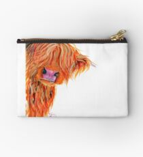 HIGHLAND COW 'PEEKABOO' BY SHIRLEY MACARTHUR Studio Pouch