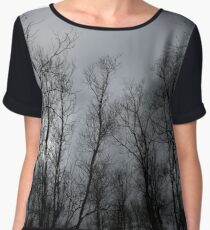 Through every forest above the trees Women's Chiffon Top