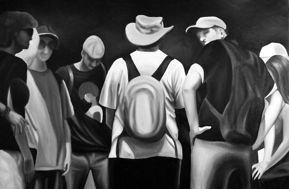 Assembly, 2012, 120-80cm, oil on canvas by oanaunciuleanu