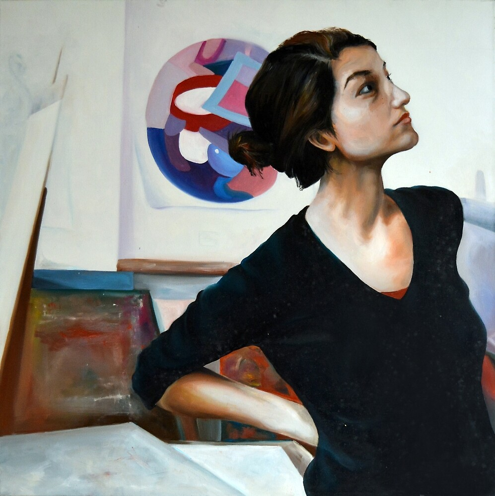 Wondering, 2011, 100-100cm, oil on canvas by oanaunciuleanu