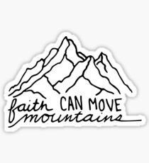 Glaube kann Berge versetzen Sticker