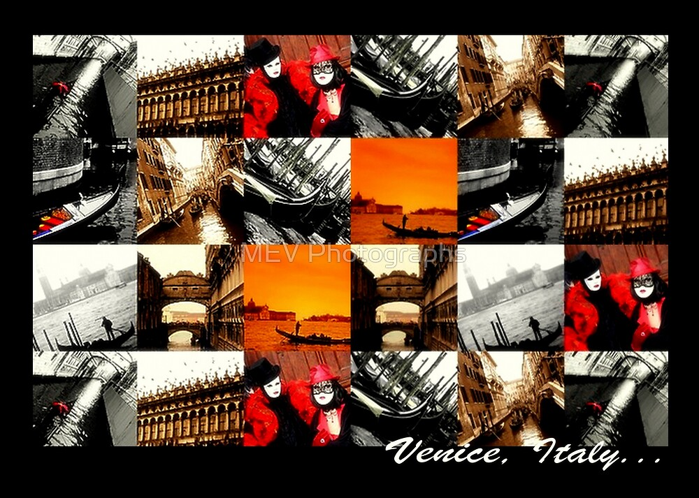 Venice collage by MEV Photographs