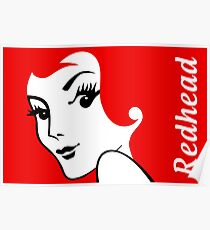 Miss Redhead (text) [iPad / Phone cases / Prints / Clothing / Decor] Poster
