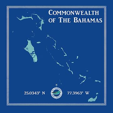 The Commonwealth of The Bahamas map by LaunchMission