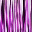 Lavender, Iris and Grape Stripy Pattern  by taiche