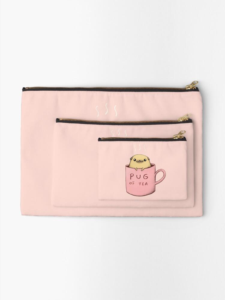 Alternate view of Pug of Tea Zipper Pouch