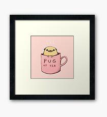 Pug of Tea Framed Print