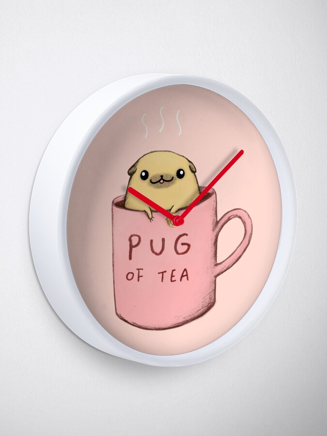 Alternate view of Pug of Tea Clock